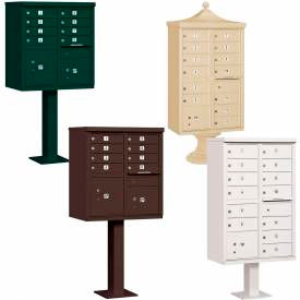 Pedestal Mounted Cluster Mail Box Units