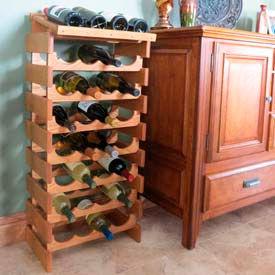 Wooden Mallet - Dakota™ Shelf Top Wine Racks