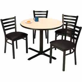 KFI - Table with 4 Café Chairs Set