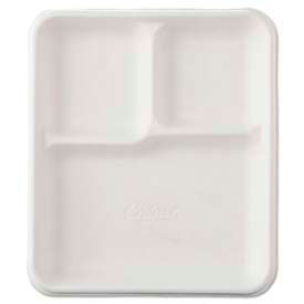 Chinet® Molded Fiber Cafeteria Trays