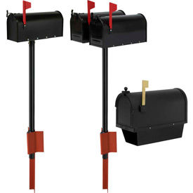 Aluminum Post Top Mount Mailboxes