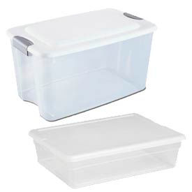 Clear Storage Totes With Lid