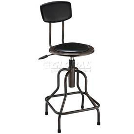 Interion® Vinyl Industrial Stool - Pneumatic Height Adjustment