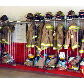 Ready Rack® Firefighters Chrome Gear Storage Rack Lockers