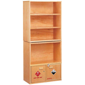 SciMatCo Metal-Free Flammable Natural Wood Shelving Cabinets