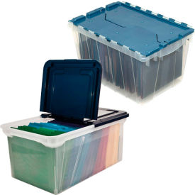 Plastic Letter/Legal File Totes With Lids