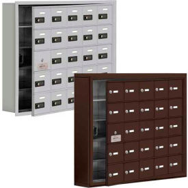 Salsbury Cell Phone Lockers, Recessed Mounted with Front Master Access Panel