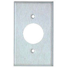 Stainless Steel Single Receptacle Wall Plates