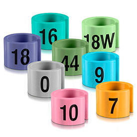 Mini Garment Hanger Markers - Colors with Black Print, 100/Pack