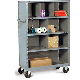 Steel Shelf Trucks with Shelf Bin Dividers