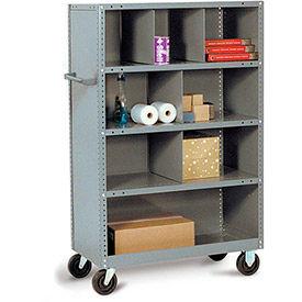 Tri-Boro Steel Shelf Trucks with Shelf Bin Dividers