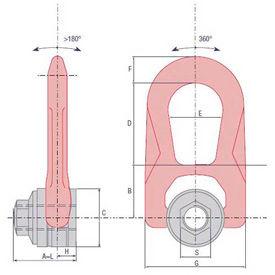 Double Swivel Rings (Female)