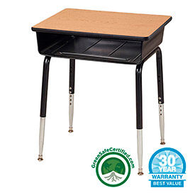Allied - Open Front Student Desks, Adjustable Height