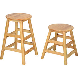Interion® Wood Stools