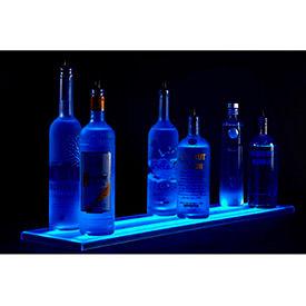 Single Level LED Light Shelf