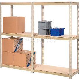 7'H Expandable Bulk Metal Storage Rack With Wood Deck