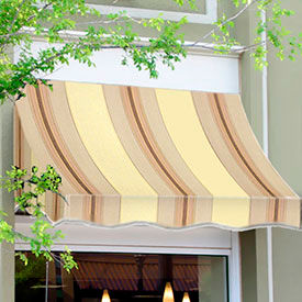 Awntech 7-3/8'W Crescent Shaped Awnings