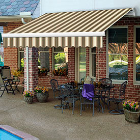 Awntech 12'W Heavy-Duty Manual Retractable Awnings