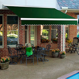 Awntech 16'W Heavy-Duty Motorized Retractable Awnings