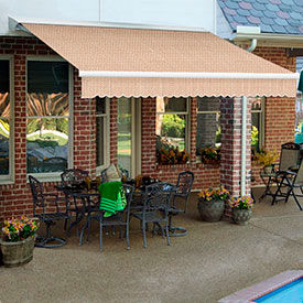 Awntech 18'W Heavy-Duty Motorized Retractable Awnings