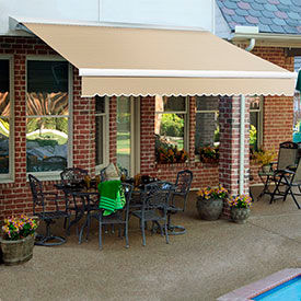Awntech 24'W Heavy-Duty Motorized Retractable Awnings