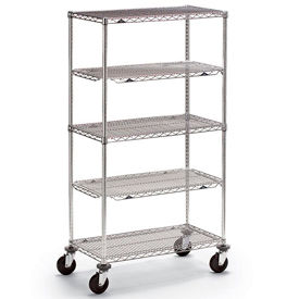 Metro® qwikSLOT™ Super Erecta Brite Wire Shelf Trucks & Utility Carts