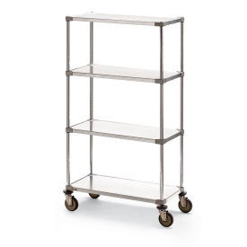Metro® Shelf Trucks with Solid Galvanized Shelves