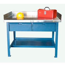 Industrial Shop Tables With Stainless Steel Top