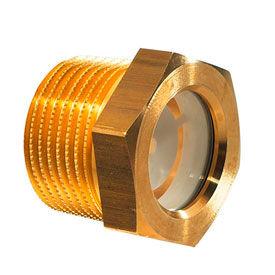Brass Fluid Level Sight Glasses w/ Reflector