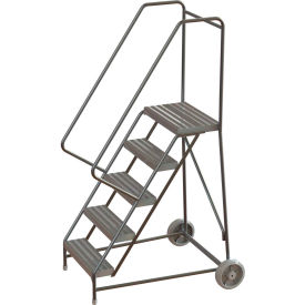 Aluminum Wheel-Barrow Style Rolling Ladders