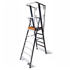 Little Giant Fiberglass Safety Cage Ladders