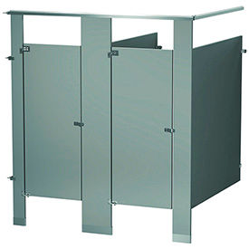 Bradley Between Wall and In-Corner Powder Coated Steel Bathroom Compartments