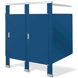 Bradmar In-Corner Solid Plastic Bathroom Compartments
