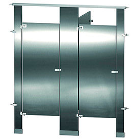 Mills Between Wall and In-Corner Stainless Steel Bathroom Compartments