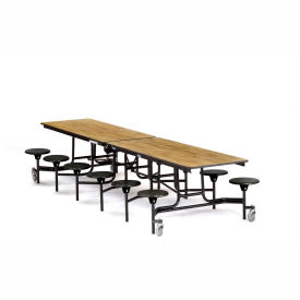 National Public Seating® Rectangular Cafeteria Tables with Stools & Particleboard Top