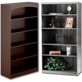 Wood Veneer - Full Height, Easy Assembly Bookcases