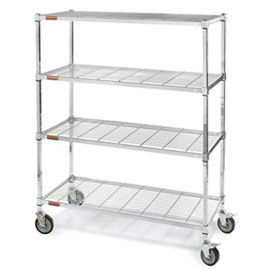Relius Sq. post Wire Shelf Trucks w/Smart Casters