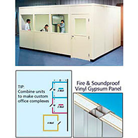 PortaFab Modular Inplant Offices - Vinyl Clad Panel Class A Fire & Sound Rated (Steel Frame)