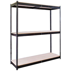 Rivetwell Boltless Shelving With Wood Decking