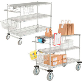 Nexel® Wire Curbside Carts