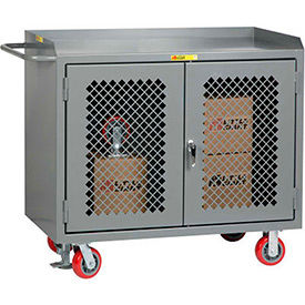 Mobile Clear-View Service Bench Cabinets