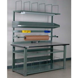 Stackbin Adjustable Height Complete Packaging Workbenches with Electric Outlet