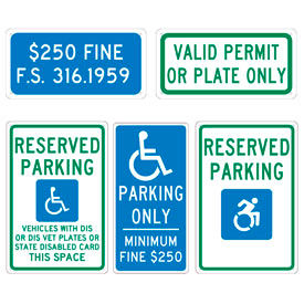 State Specific Parking Lot Signs