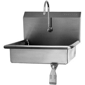 Sani-Lav Wall Mount Sink With Knee Pedal