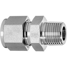 Straight Adapter - Tube to Male Threaded Pipe