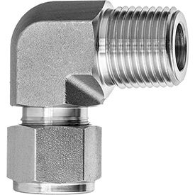 90 Degree Elbow Adapter - Tube to Male Threaded Pipe