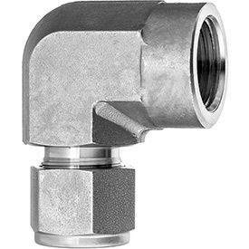 90 Degree Elbow Adapter - Tube to Female Threaded Pipe