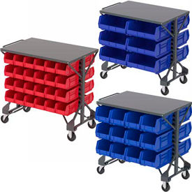 Steel Shelf Top Bin Carts