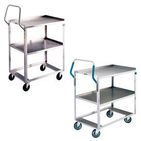 Stainless Steel Ergonomic Handle Shelf Carts