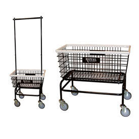 Wire Laundry Cart | Janitorial Cleaning Carts Laundry Hamper Royal Basket Wire